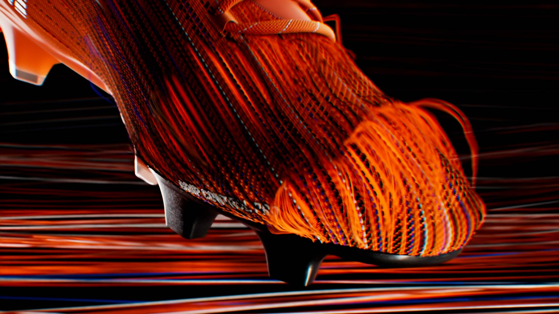 3D yarns animation of the Puma Ultra shoe with Houdini