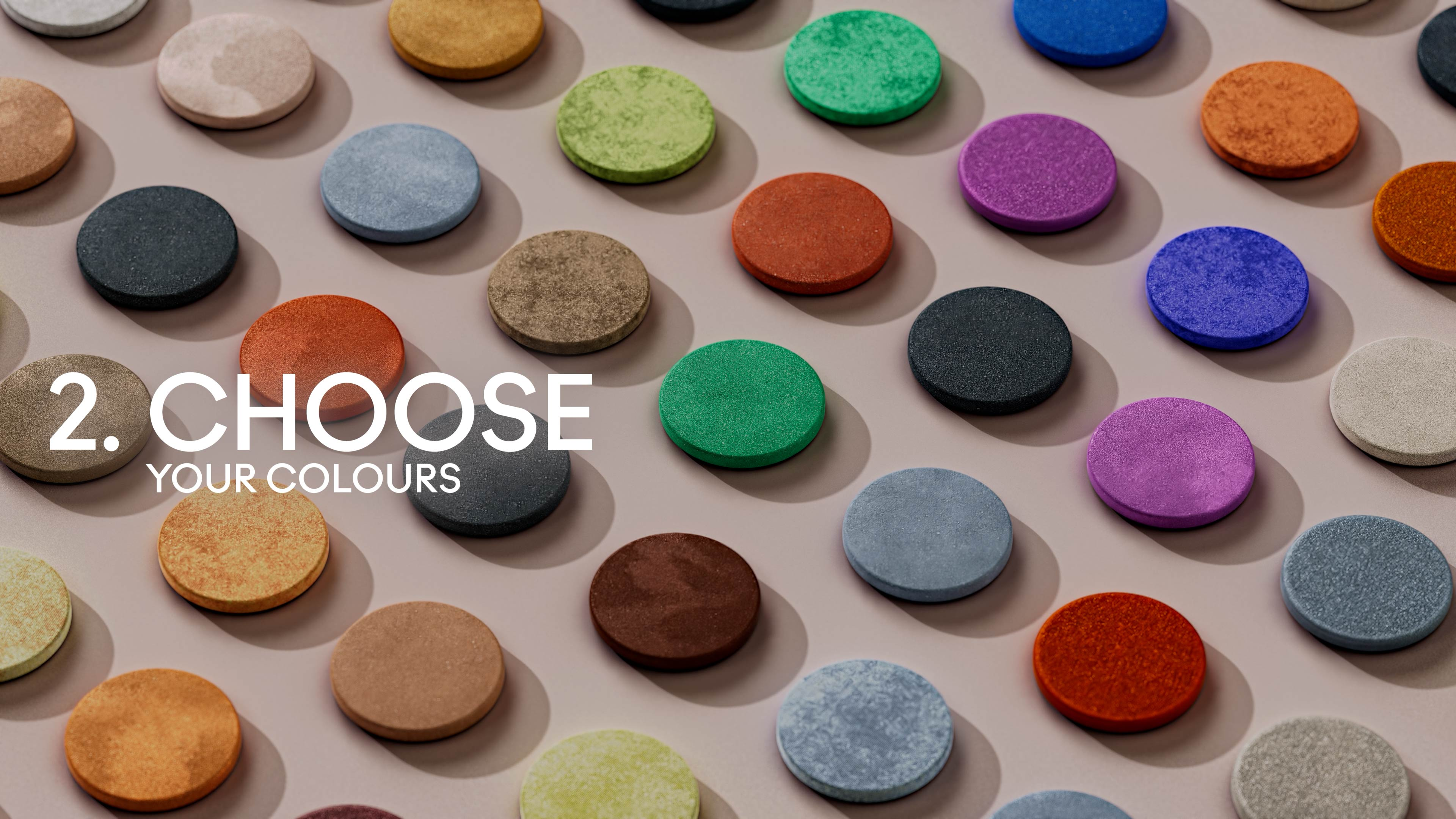 3D Motion design with cosmetic colored powder