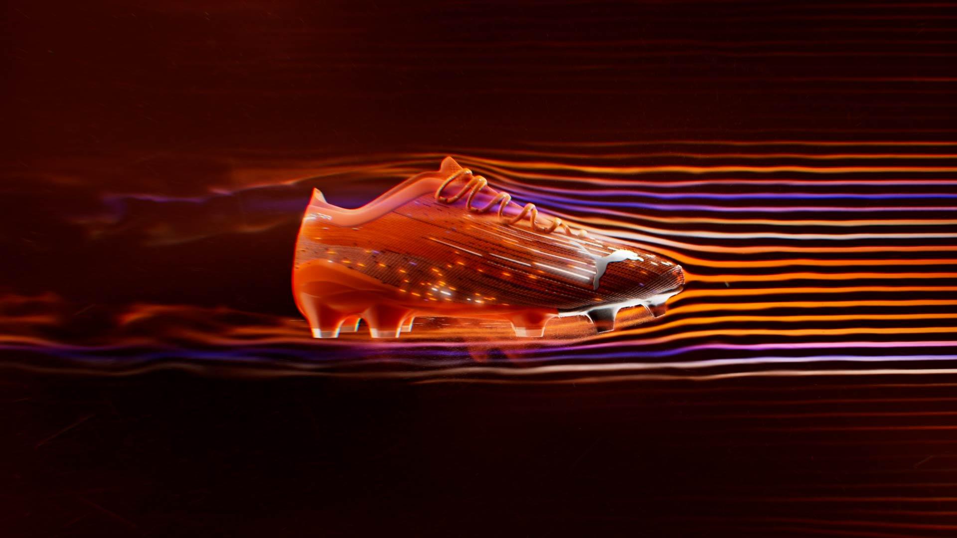 Aerodynamic 3D smoke simulation around the soccer shoe