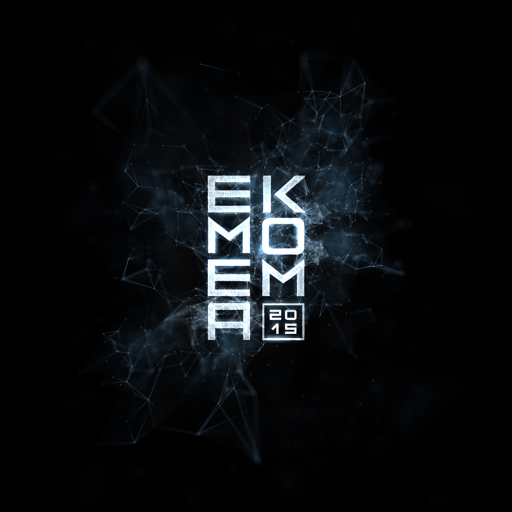 Logo for EMEA Kom 2015 - Plexus visual style made with X-Particles in Cinema 4D