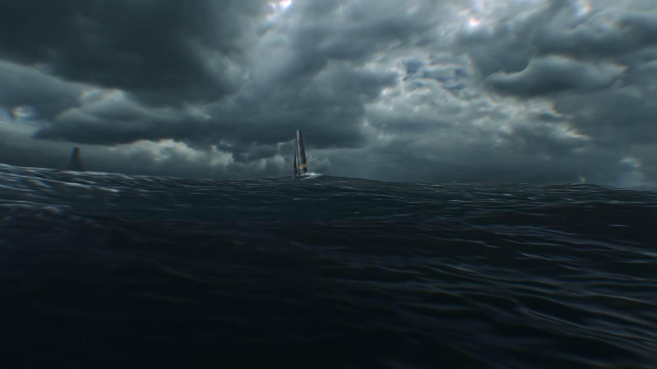 Images fixes de l'animation 3D de notre expérience VR pour Panerai et Luna Rossa