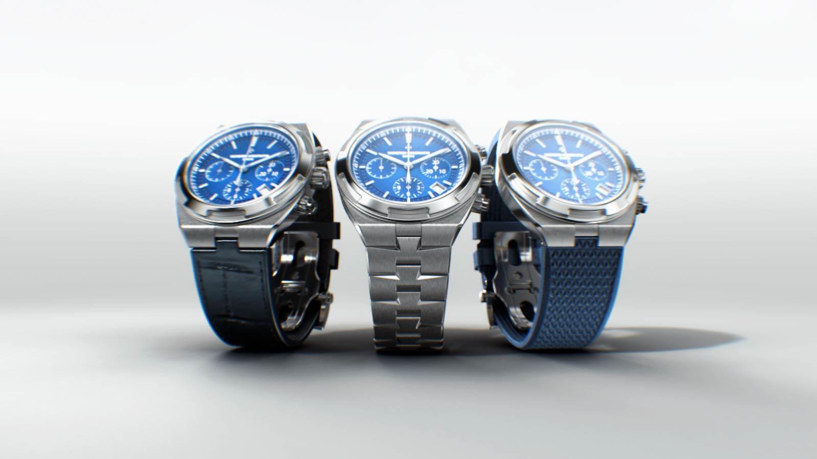 3D render of the Vacheron Overseas watches