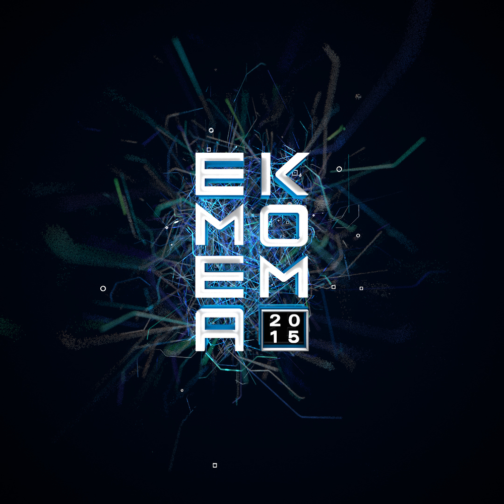 Plexus style visual made with X-Particles in Cinema 4D