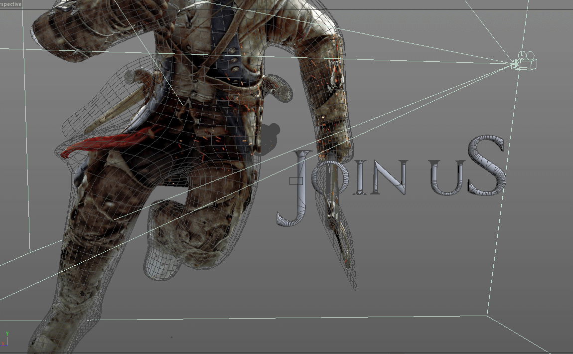 Camera mapping in Cinema 4D for an Assassins's Creed Project