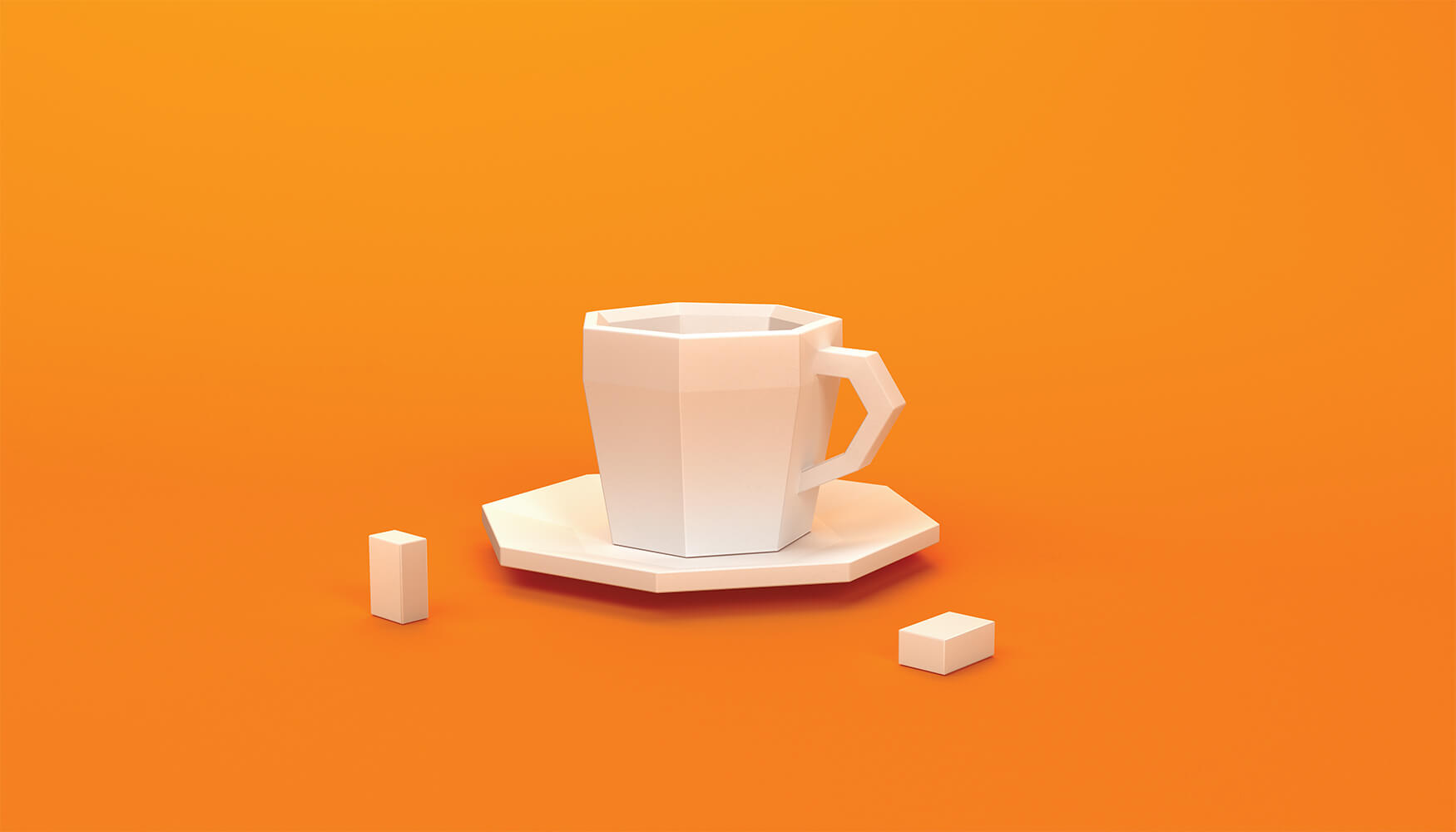 3D Cup low poly model