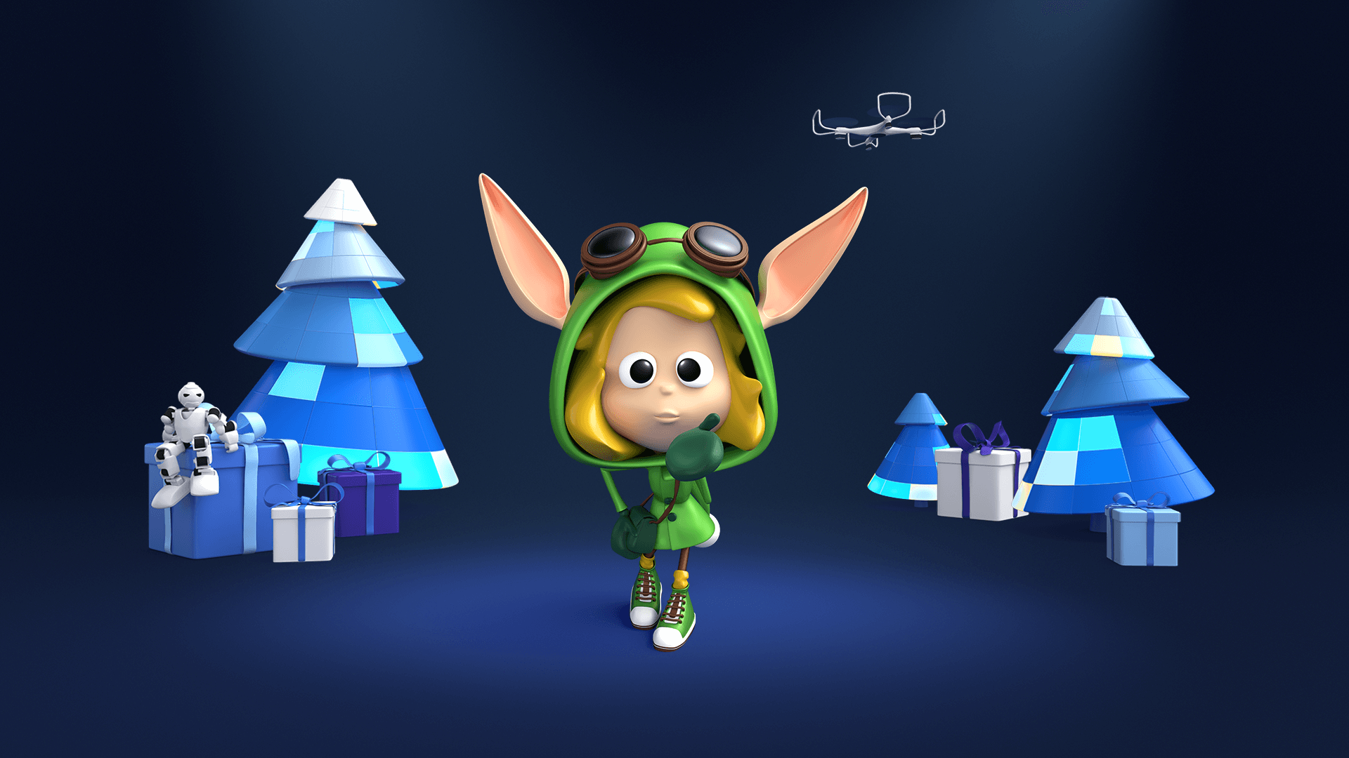 3d character toon of a Christmas Elf