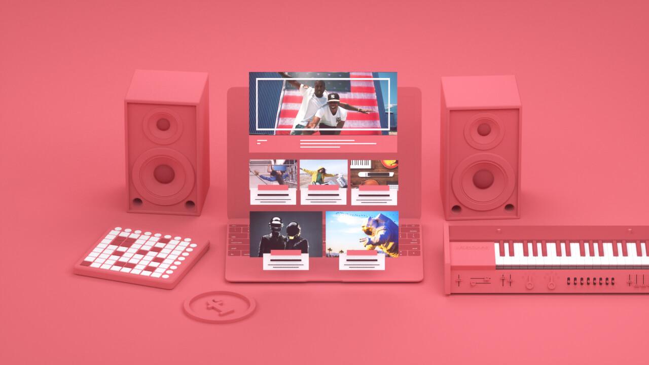 3D visual of stylized musician desktop