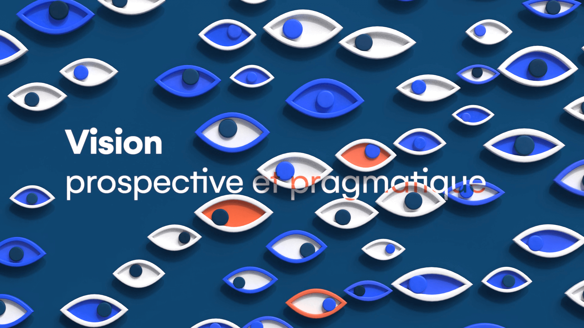 Multiple and colorful 3D eyes for motion design