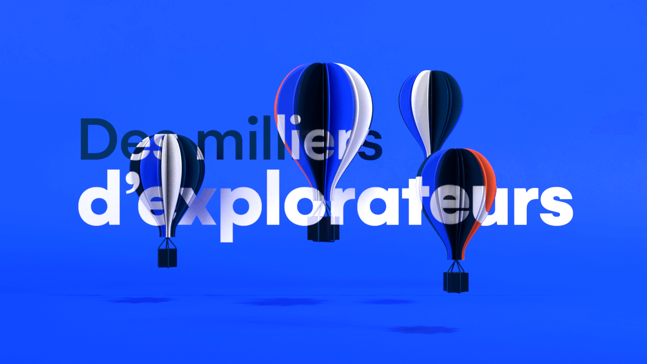 Stylized 3D hot air balloons for motion design