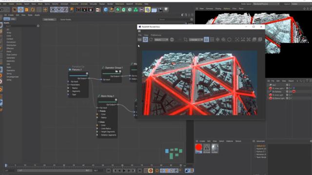 User interface of Cinema 4D