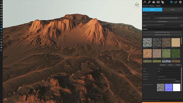 Screenshot of the World Creator user interface