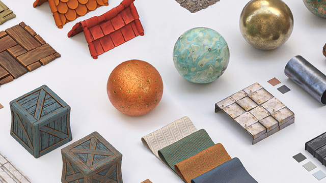 Example of materials made with Adobe Substance